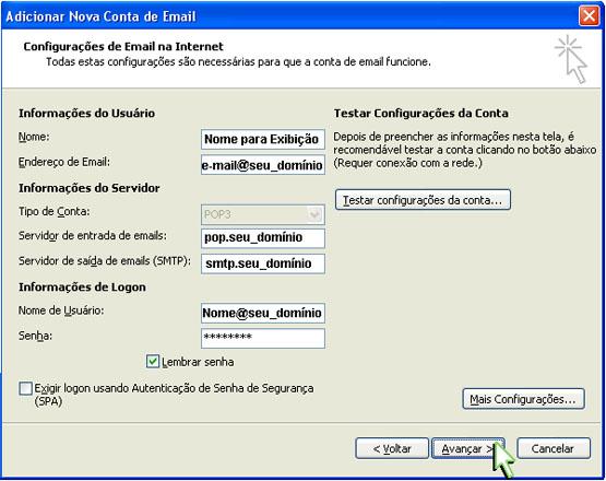 Configuração Outlook 2007